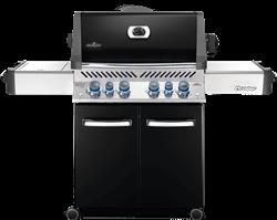 Prestige® 500 Gas Grill with Infrared Side and Rear Burners, Black