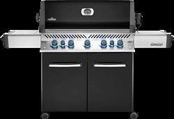 Prestige® 665 Gas Grill with Infrared Side and Rear Burners, Black
