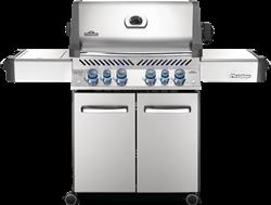 Prestige® 500 Gas Grill with Infrared Side and Rear Burners, Stainless Steel
